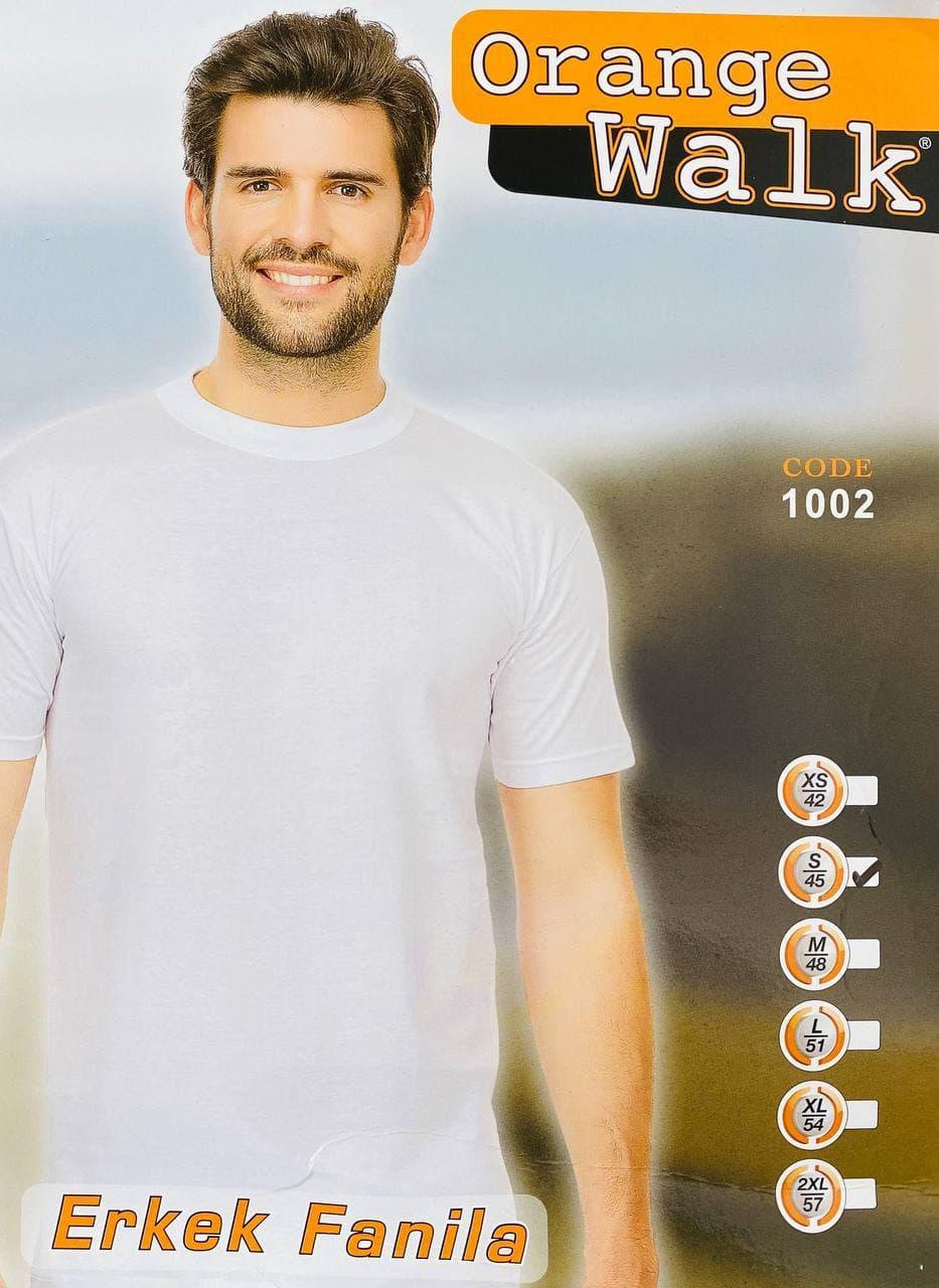 Мужская футболка хлопок 100% Orange Турция белая размер M - 46