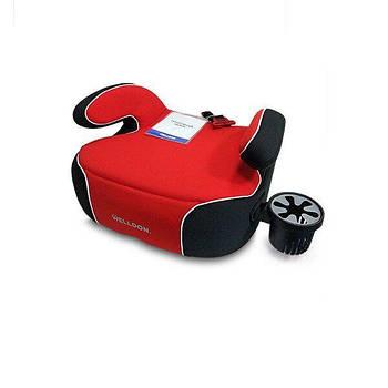 Автокрісло-бустер Welldon Penguin Pad чорний з червоним (PG08-P02-003)
