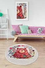 """Безкоштовна доставка! Круглий килим в дитячу """"Мішутка"""" діаметр 200 см"""