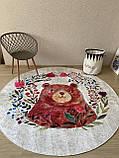 """Безкоштовна доставка! Круглий килим в дитячу """"Мішутка"""" діаметр 200 см, фото 2"""