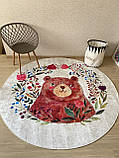 """Безкоштовна доставка! Круглий килим в дитячу """"Мішутка"""" діаметр 200 см, фото 3"""