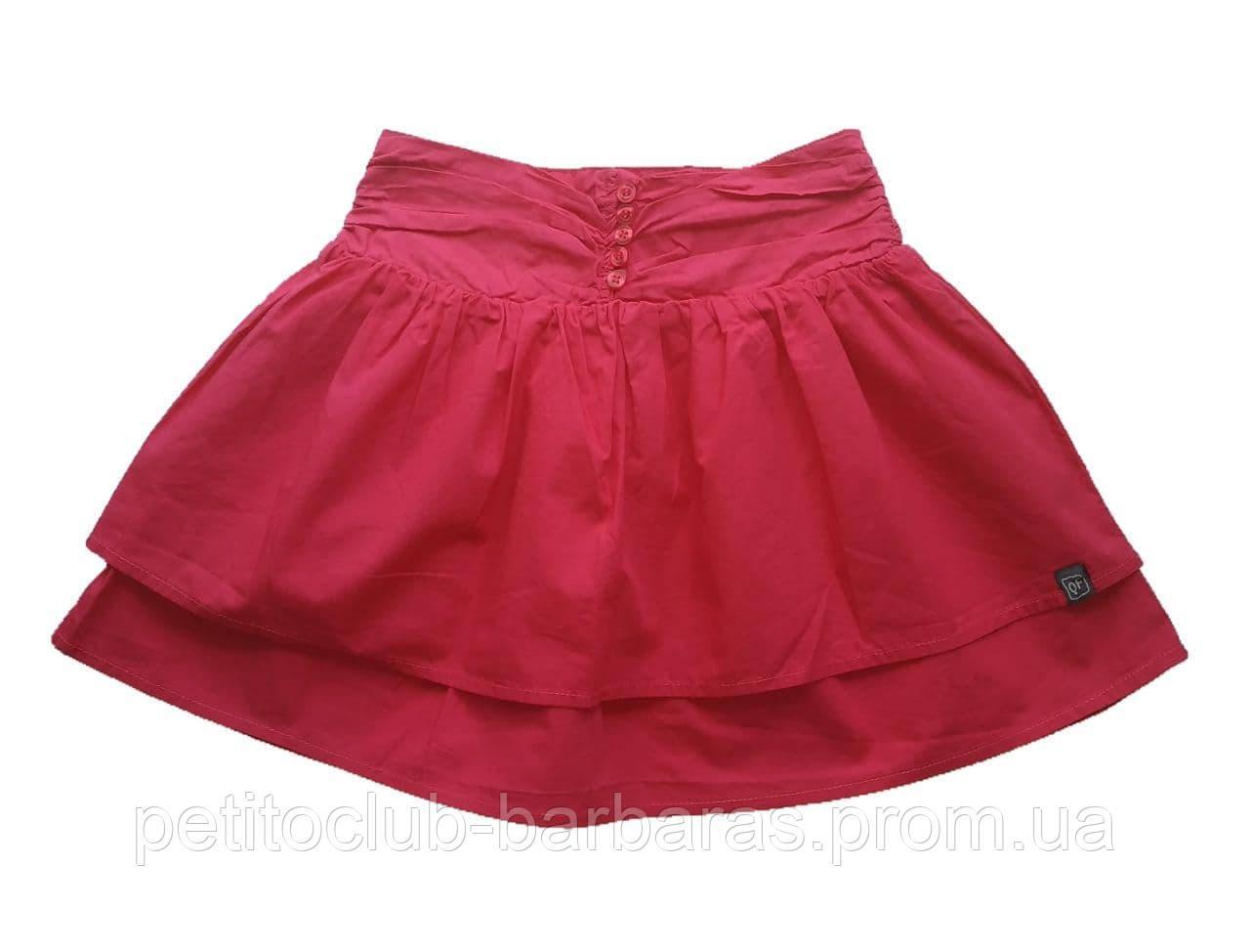 Детская летняя хлопковая юбка малиновая (р. 116,152) (QuadriFoglio, Польша)