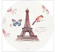 Пляжное покрывало | Пляжный плед | Пляжный коврик   | Пляжное круглое полотенце. Париж Эйфелева башня