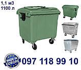 Пластиковий контейнер для сміття 1100 літрів, фото 2