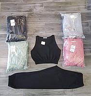 """Спортивний костюм жіночий з укороченим топом+штани,(4кол.) р-р S-L """"GEREKLI"""" недорого від прямого постачальника"""