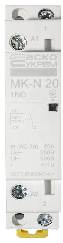 Модульный контактор MK-N 1P 20A 1NO 220V