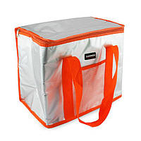 """Изотермическая сумка-холодильник """"Sannea"""" Cooler Bag Оранжевая на 16 л, переносная термосумка для обедов (NS)"""