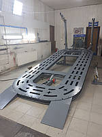 Рихтувальний стенд стапель платформного типу + лінійка і лебідка