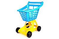 """Дитячий візок для супермаркету Технок """"Супермаркет"""" 56*47*365 см синьо-жовтий 4227"""