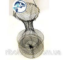 Садок рыболовный тканевый чёрный d35мм 3 кольца