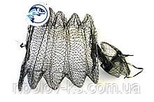 Садок рыболовный тканевый чёрный d35мм 5 колец
