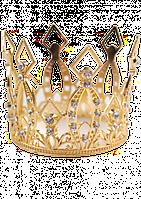 Маленькая корона в золоте со стразами  для девочки