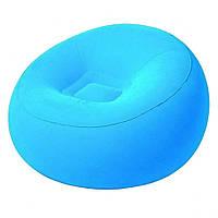 Надувное кресло BW 75052 велюровое (Синий)