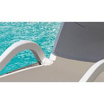 Лежак пляжный пластиковый пластмассовый Nilo коричневый, фото 3