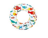 Надувной круг для плавания 59230, 51 см ( 59230-1 (Морские обитатели))