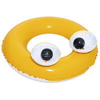 Надувной круг Bestway 36114 с большими глазами  (Оранжевый)