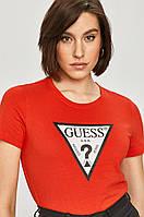 Футболка женская Guess, красная гесс, фото 1