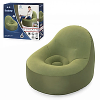 Кресло надувное BW 75082 велюр