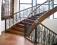 Кованые столбы под перила для лестниц
