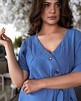 Платье рубашка большого размера Джинс