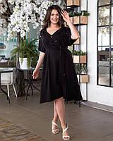 Платье рубашка большого размера Черный