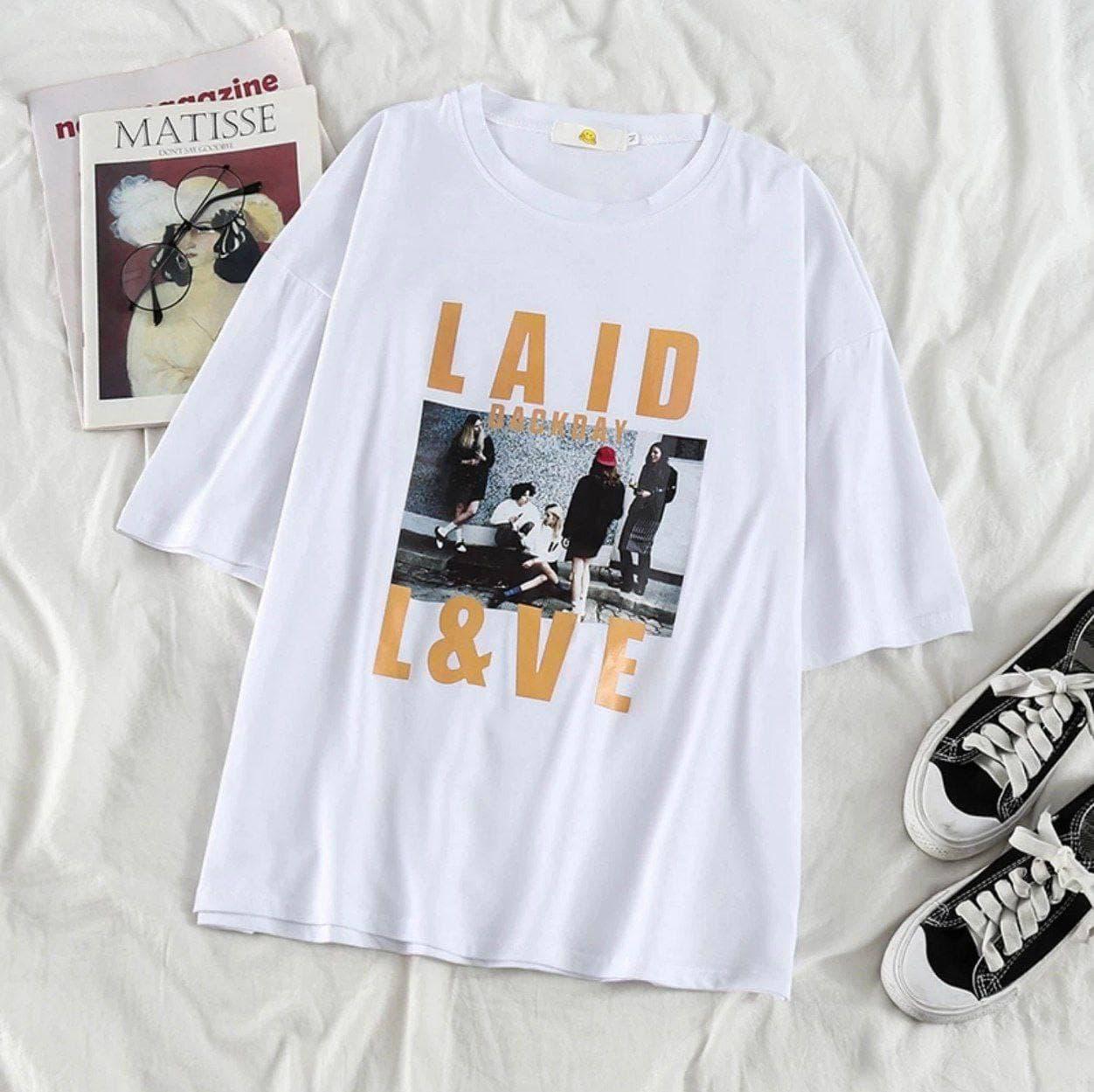 Женская футболка Laid Love Белая