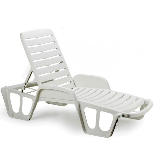 Лежак пляжный пластиковый пластмассовый Fisso