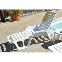 Лежак пляжный пластиковый пластмассовый Fisso, фото 2