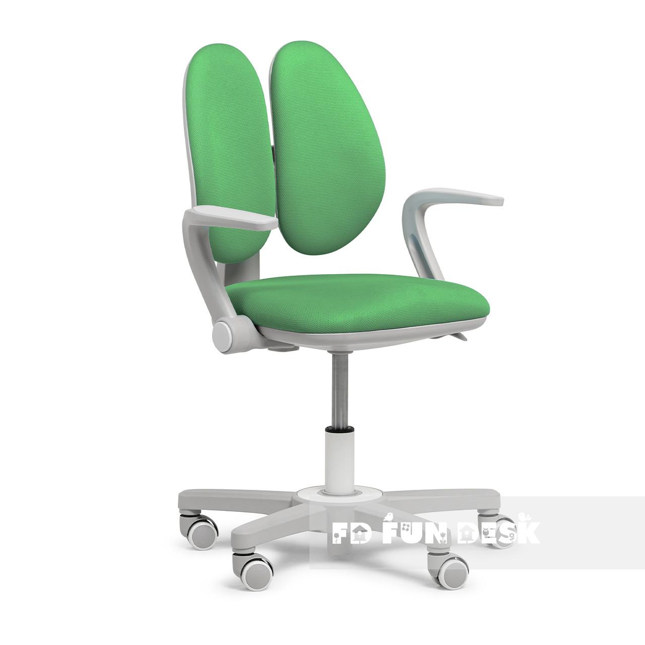 Дитяче ергономічне обертове крісло Fundesk Mente Dark Green з підлокітниками