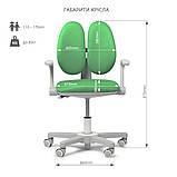 Дитяче ергономічне обертове крісло Fundesk Mente Dark Green з підлокітниками, фото 9