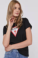 Женская футболка Guess, черная гесс, фото 1