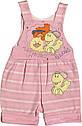 Літній костюм на дівчинку ріст 62 2-3 міс для новонароджених малюків комплект дитячий трикотажний літо рожевий, фото 3