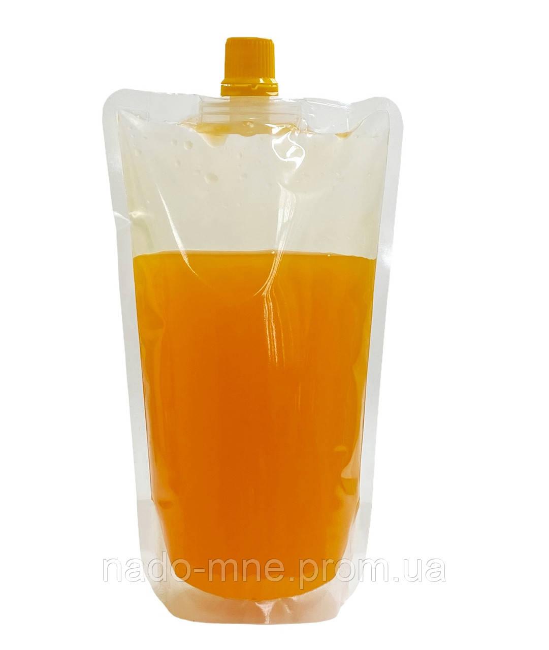 Пакет дой-пак для лимонада и других жидкостей, с желтыми крышками, 250-300 мл