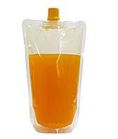 Пакет дой-пак для лимонада и других жидкостей, с желтыми крышками, 250-300 мл, фото 1