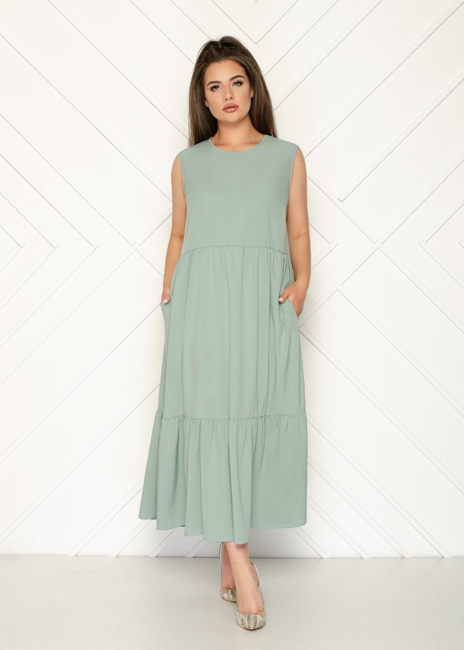 Летнее платье-сарафан свободного кроя