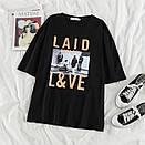 Женская футболка Laid Love Черная, фото 2