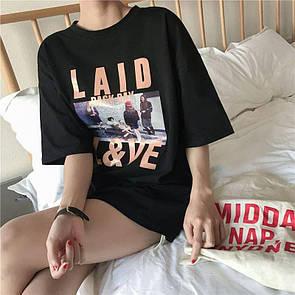 Женская футболка Laid Love Черная