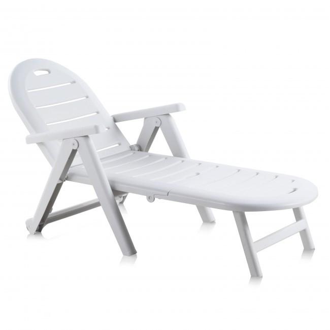 Лежак пляжный пластиковый пластмассовый Caiman