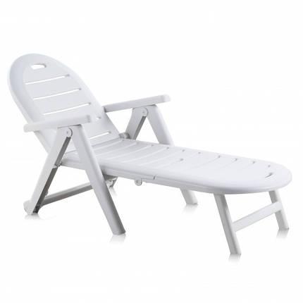 Лежак пляжный пластиковый пластмассовый Caiman, фото 2