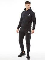 Демисезонный спортивный костюм черный Reebok (Рибок)