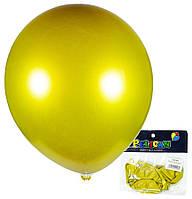 Воздушные шарики Pelican 12(30 см) хром золото, 5 шт, арт.1250-601