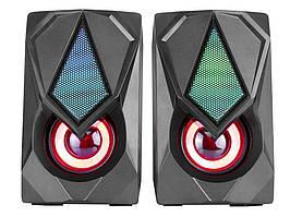 Колонки компьютерные XTRIKE ME RGB Backlight SK-402, черные