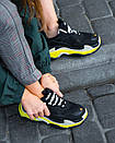 Женские кроссовки Balenciaga Triple S Black Yellow, фото 7