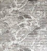 Стеновые 3D панели самоклеющиеся Sticker Wall 01 Панель 3D стеновая серый мрамор кирпич 69 см X 78 см
