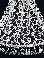 Шарф белый кружевной праздничный, фото 1