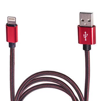 Кабель зарядки USB - Apple Lightning (Red) ((100) Rd)
