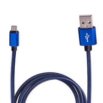 Кабель зарядки USB - Micro USB (Blue) ((400) Bl)
