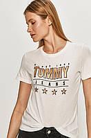 Футболка жіноча Tommy Jeans, томмі джинс біла, фото 1
