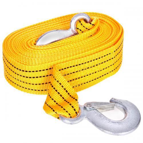 Трос буксирний ST205B/TP-207-3-1 3т стрічка 46мм х 6м жовтий/гак/в кульку (TP-207-3-1)