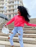 Женская кофта-худи легкая яркая с капюшоном из двунитки на весну-лето р-ры 42-44,46-48 арт 377
